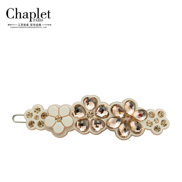 Chaplet 2016 New High Quality Luxury Flower Hair Accessories for Women Hair Barrettes Hair Pins Rhinestone