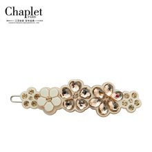 Chaplet 2016 New High Quality Luxury Flower Hair Accessories for Women Hair Barrettes Hair Pins Rhinestone