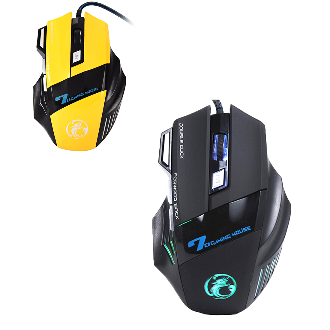 Etmakit  Professional Wired Gaming Mouse 7 Button 5500 DPI LED Optical USB Gamer Computer Mouse Mice Cable Mouse High Quality X7