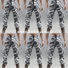 TopToys 6PCS/Set 1/6 Scale Clothing Accessories Military White w black Camouflage Pants Army Combat Fit 12 Figures Toys Doll