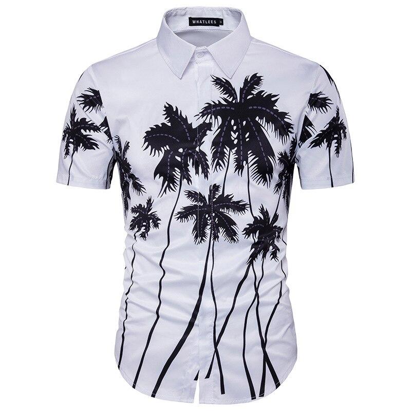 Mens Hawaiian Shirt Mens Fashion Trends Are Stylish And Stylish Camisa Masculina Social  ...