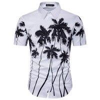 Hawaii Gömlek Mens erkek Moda Trendleri Şık Ve Şık Vardır Camisa Masculina Sosyal Çiçek Kısa Kollu Gömlek Erkekler
