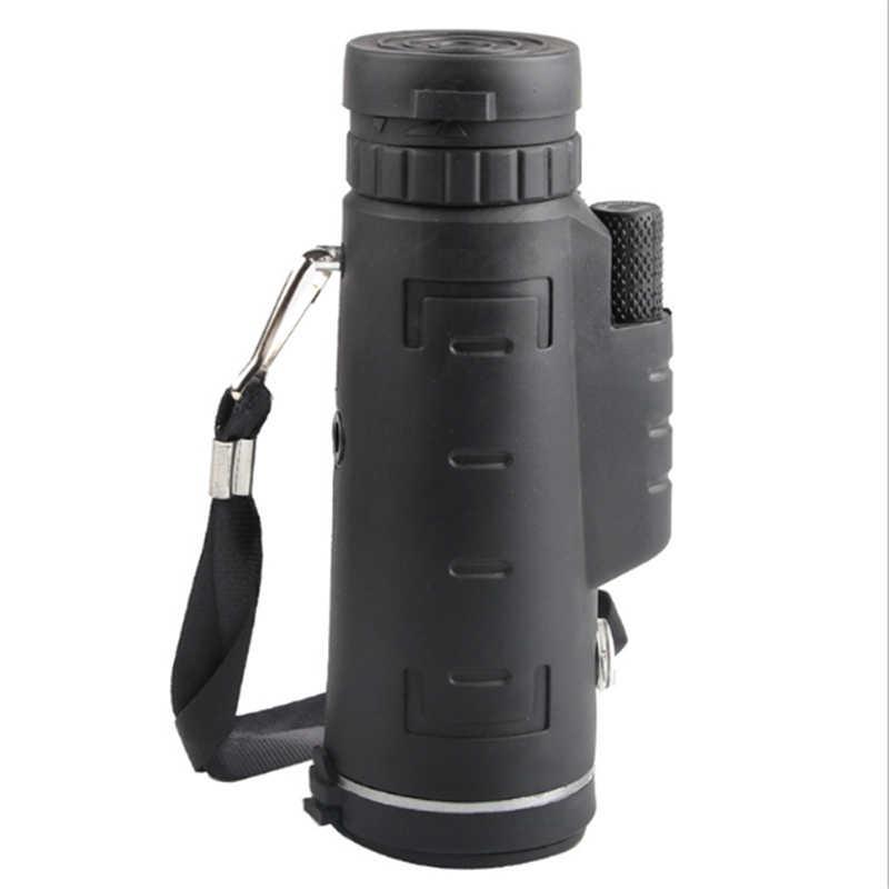 40X60 משקפת BAK4 משקפת טלסקופ HD ראיית לילה פריזמה היקף עם מצפן טלפון קליפ חצובה