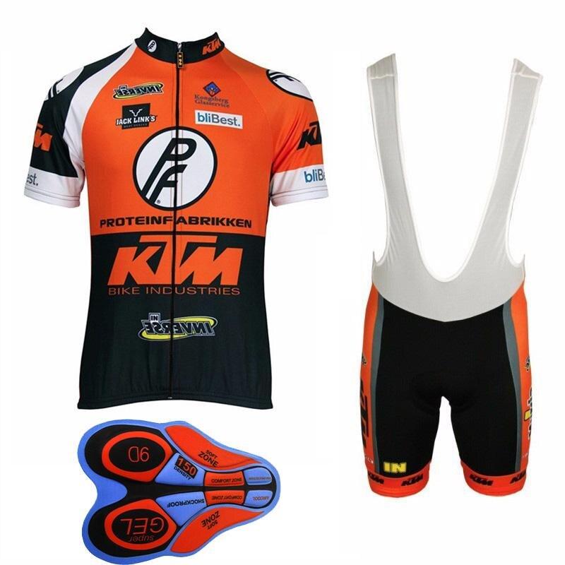 Équipe KTM Vélo Jersey 2018 Vélo Vêtements Hommes À Séchage Rapide VTT vélo À Manches Courtes Ensemble Short 9D Pad uniformes ciclismo hombre I6