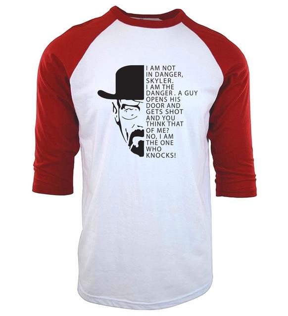 aabb32f4b 2019 Breaking Bad top summer men raglan t-shirt harajuku kpop tee shirt  homme I m Not In Danger three-quarter sleeve camisetas