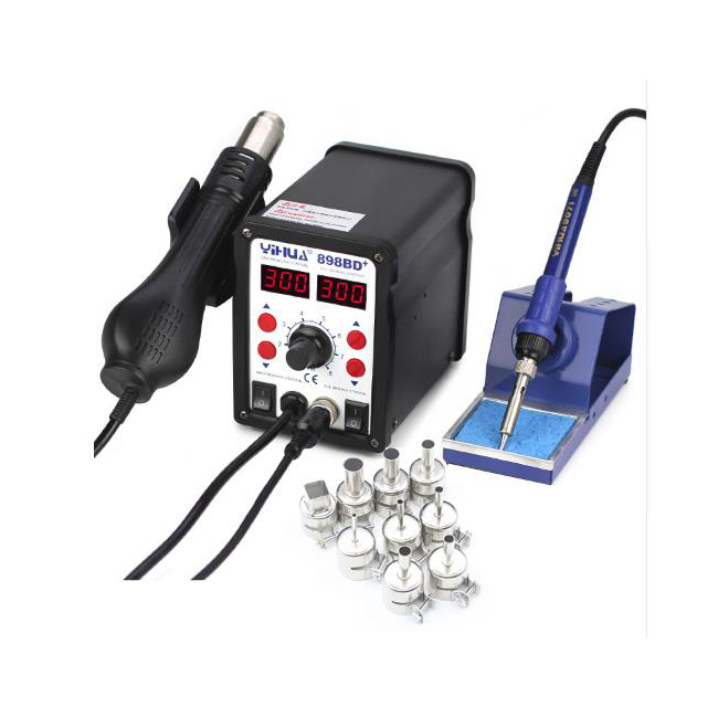 YIHUA 898BD+ Desoldering Station With Heat Soldering Iron Heat gun Soldering Stations