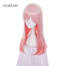 Ccutoo 60 см Розовый Омбре кудрявые Длинные Синтетические парики Sonico высокотемпературные Косплей парики для вечеринки костюм парики