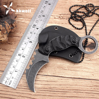 Cool Handmade Hunting Karambit Knife 58HRC K Sheath Counter Strike Fighting Survival Tactical Knife Claw Camping