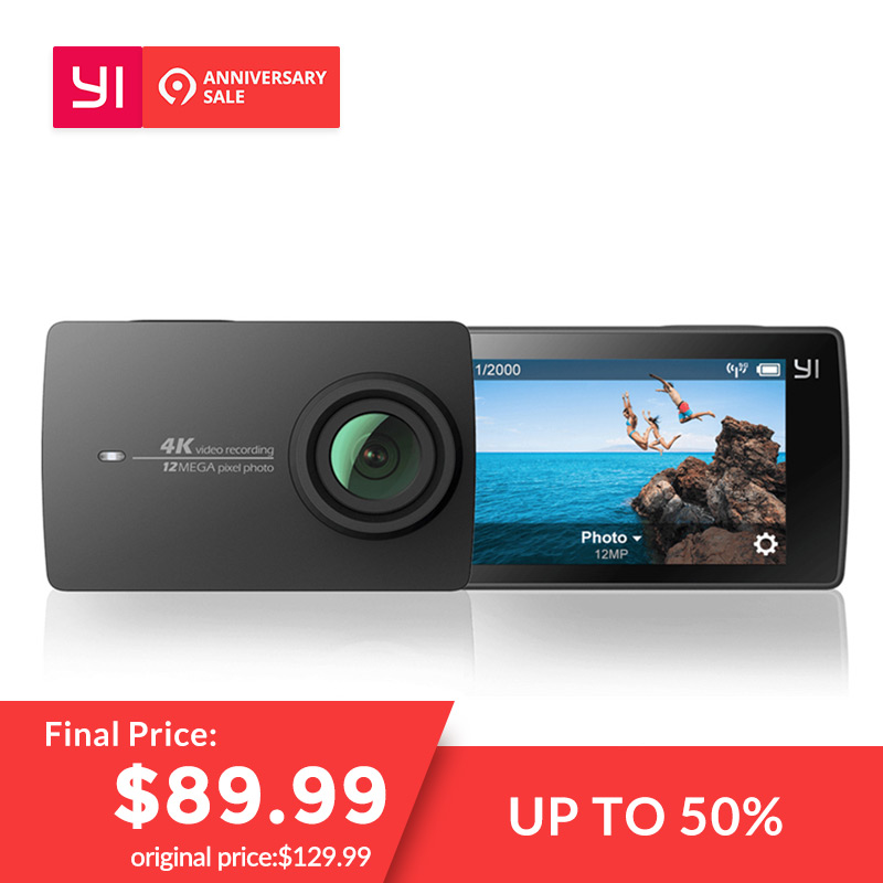 YI 4 K Action Kamera Ambarella A9SE Sport Mini Kamera ARM 12MP CMOS 2,19