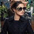 Moda new 2016 marca óculos de sol de luxo declaração jóias mulheres shades gafas óculos de sol decoração com flores do vintage