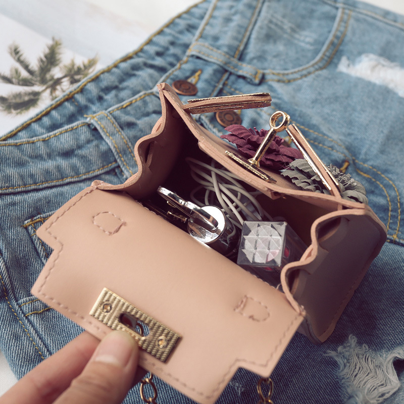 BONAMIE Fashion Women Girl Mini Shoulder Bag Lady Handmade Flowers Party Evening Handbag Female Chain Small Cross Body Bag