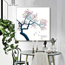 Special Wedding Birthday Gift Guestbook Fingerprint Creative DIY Chinese Ink Painting Plum Tree  Symbol of Charm For Home Deocor джемпер plum tree plum tree pl010ewhhgo8