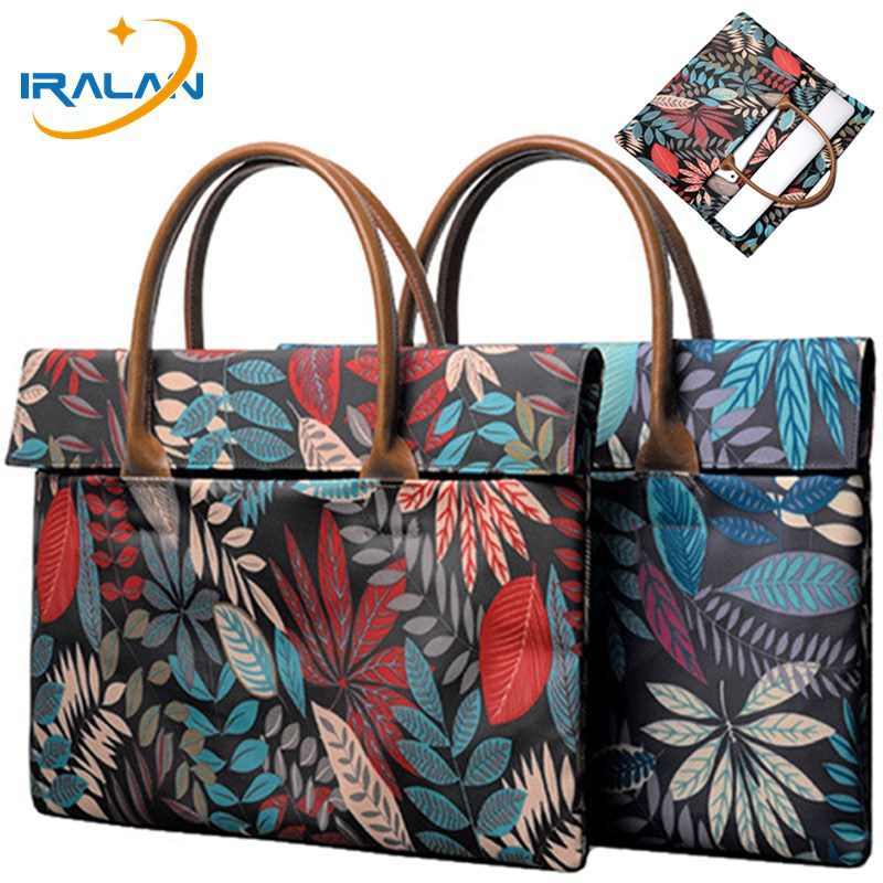 IRALAN Fashion handbag <font><b>Notebook</b></font> case 14 <font><b>15.6</b></font> print canvas <font><b>pouch</b></font> for Macbook Air Pro Retina 11 12 13 15 laptop Bag portable cover image