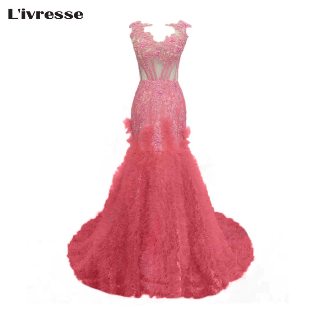 Hermosa Vestido De Fiesta Color De Rosa Caliente De Alta Y Baja ...