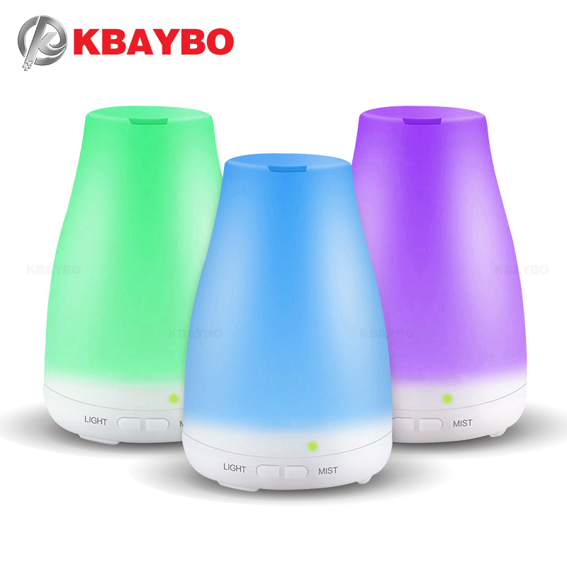 Ultrasonic Humidifier Aromatherapy Diffuser Cool Mist With Color LED Lights Essential Oil Diffuser Waterless Auto Shut