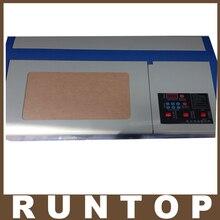 Alta Calidad 110/220 V 40 W 200*300mm Mini Láser CO2 Grabado Del Grabador Máquina De Corte 3020 láser con USB Deporte