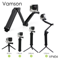 Gopro Accessories Tripod 3 Way Monopod Mount Grip Extension Arm Tripod for Gopro Hero5 4 3+2 xiaomi yi SJ4000 Camera VP404