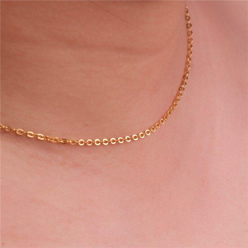 Ozadje ogrlica v obliki srca votla bar obesek Oblika ogrlice dolg - Modni nakit - Fotografija 6