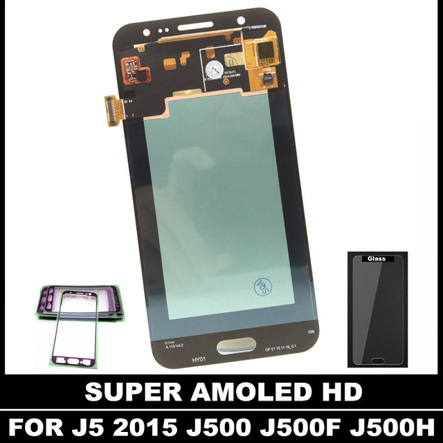 US $33 52 28% OFF With Brightness Adjustment LCD For Samsung Galaxy J5 2015  J500 J500F J500G J500H Super AMOLED LCD Display Touch Digitizer Screen-in