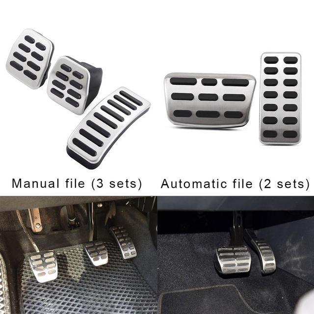 Manual Automatic Car Accelerator Pedal Brake Stainless Cover System Embly