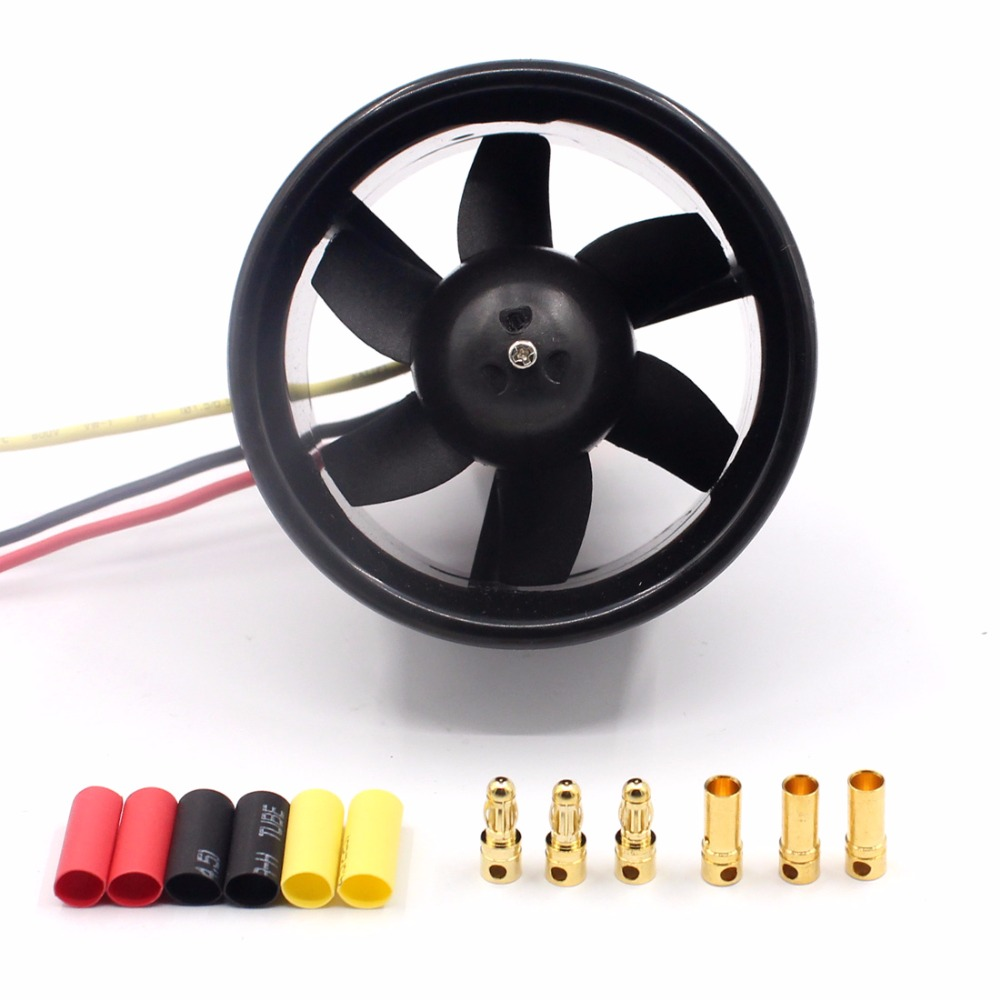купить 55mm/64mm 6/5 Blades EDF Ducted Fan with QF2611 3500KV/4500KV Brushless Motor for RC Drone Ducted F22128 по цене 1149.95 рублей