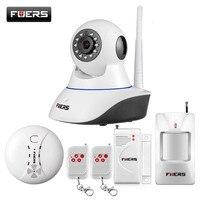 KERUI WiFi IP Camera Home Burglar Security Smoke Fire Detector Alarm System IOS Android Control Camera