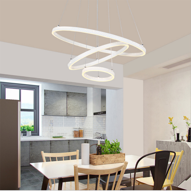 LED lights Modern Chandelier white color Rings decoration Chandelier Lights Circle for Living Room Bedroom loft pendant LED lights Modern Chandelier white color Rings decoration Chandelier Lights Circle for Living Room Bedroom loft pendant