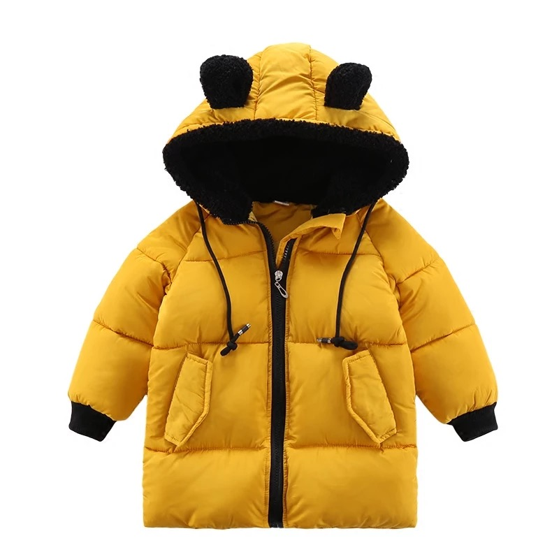 Child Kids  Winter Cotton Hooded Jacket For Newborns Baby Girl Fashion Cute Child Thick Coats Warm Outerwear Overalls winter women jacket 2018 fashion hooded collar coat warm printed denim jacket female outerwear girl casual long cotton coats
