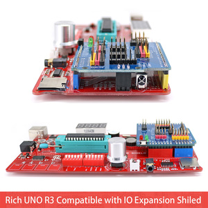 Image 5 - Rich uno r3 atmega328p 개발 보드 센서 모듈 io 쉴드 mp3 ds1307 rtc 온도 센서가 장착 된 arduino 용 스타터 키트