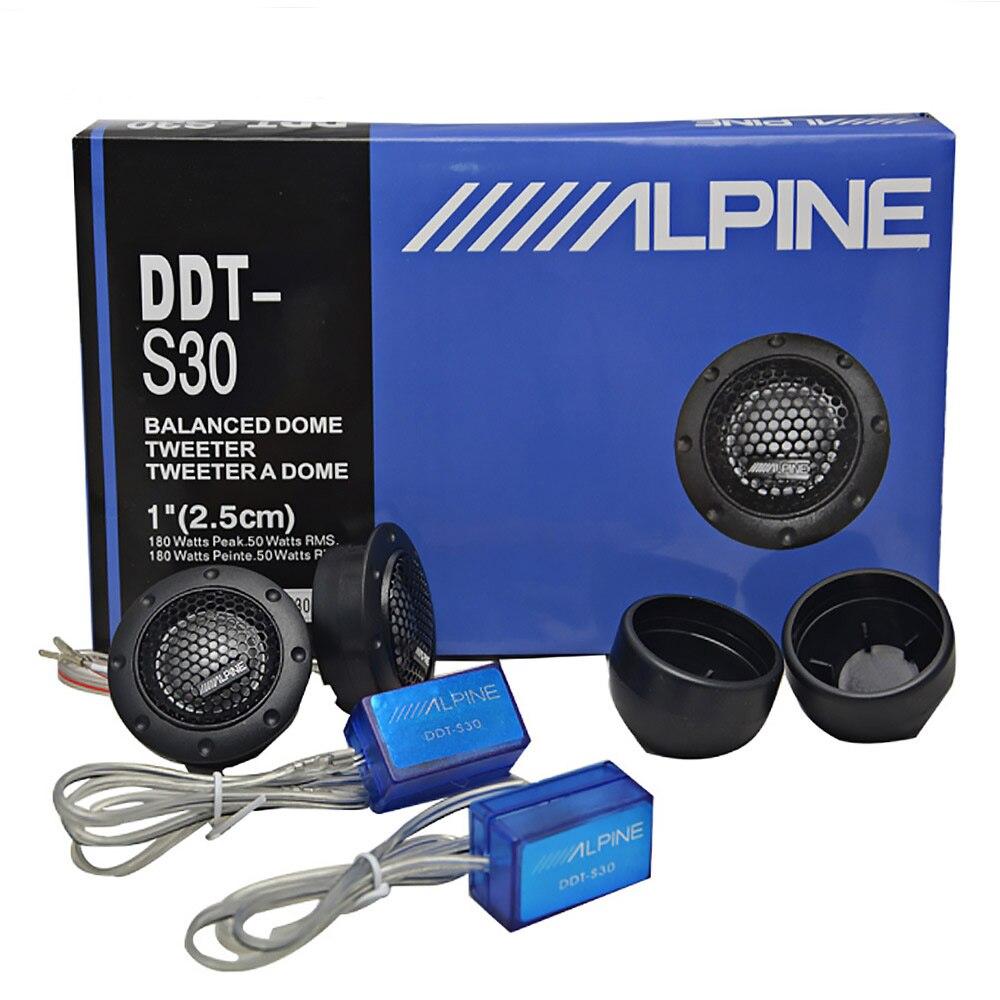 Tweeter Film de soie Audio de voiture pour Modification de voiture 180 W 4Ohm haut-parleur Audio aigu Modification Audio de voiture 2 pièces