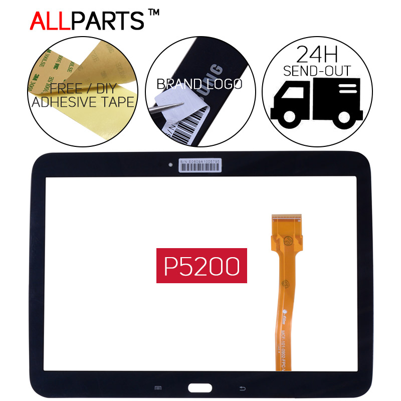 TESTED Black White Tablet Touch Screen For SAMSUNG GALAXY Tab 3 10.1 P5200 GT-P5200 Touch Screen Digitizer GT-P5210 P5210