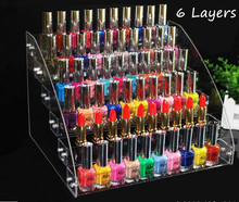 Multifunction clear Acrylic Nail Polish Rack Makeup Cosmetic Display Shelf Organizer Lipstick Jewelry Display Stand Holder rack