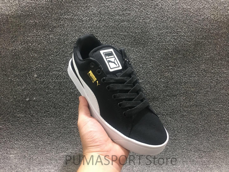2018 New Arrival PUMA SUEDE'S Men's Black / White Sneakers Badminton Shoes Size39-45 стоимость