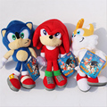 1 PC Super Sonic Plush Dolls Sonic Boom Plush Toys Cartoon TV Sonic The Hedgehog Figure Doll Gift 22CM