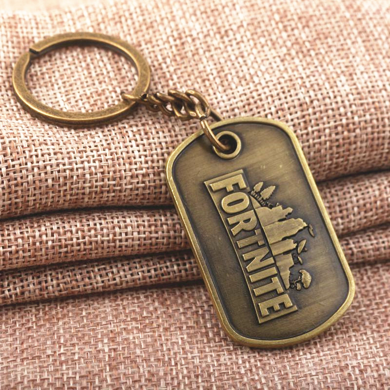 Games FPS Game Fortnite victory royale Keychain keyring antique bronze Pendant fashion Jewelry