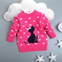 new 2015 girls autumn/spring wear girls sweater children clothing babi girls sweater kids girl winter warm clothes