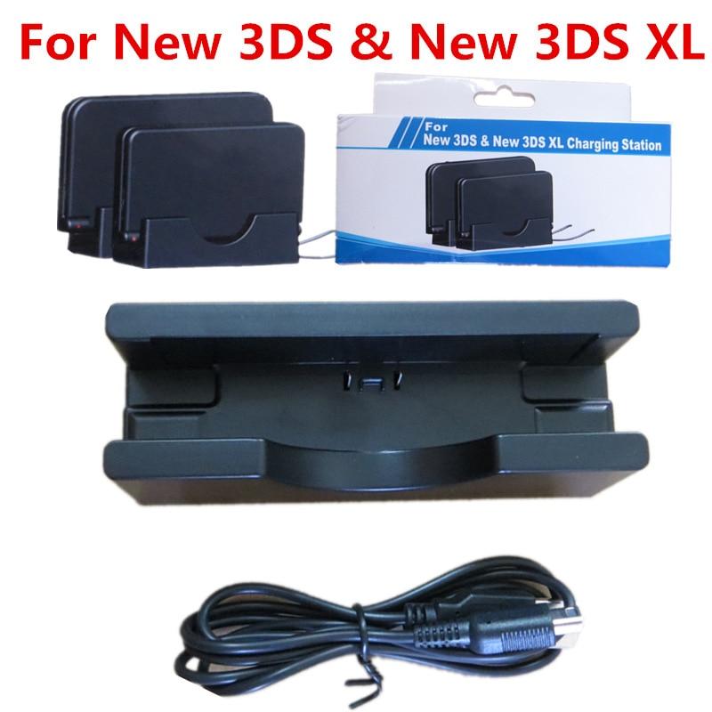 Черный ABS пластиковый USB кабель универсальное настольное зарядное устройство Подставка для зарядки док-станция для нового 3DS 3dsll/XL зарядная станция