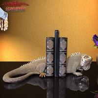 Украшение дома Интимные аксессуары Европейская смола ящерица форзац Украшения мебель для офиса Аксессуары интерьер Подставки для книг
