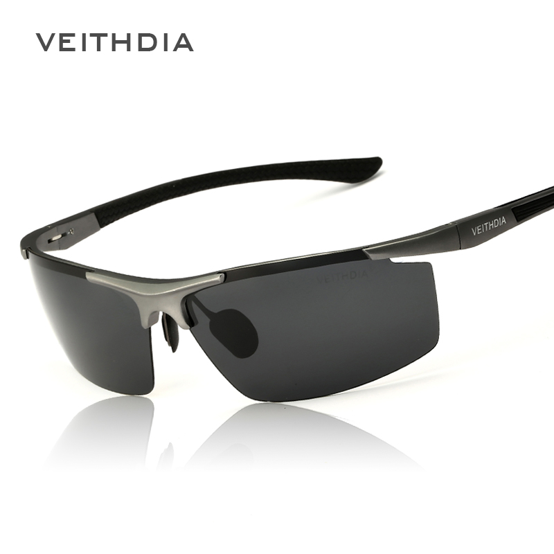 d5e6a1a65a VEITHDIA Aluminum Magnesium Men s Sunglasses Polarized Coating Mirror Sun  Glasses oculos Male Eyewear Accessories For Men 6588-in Sunglasses from  Men s ...