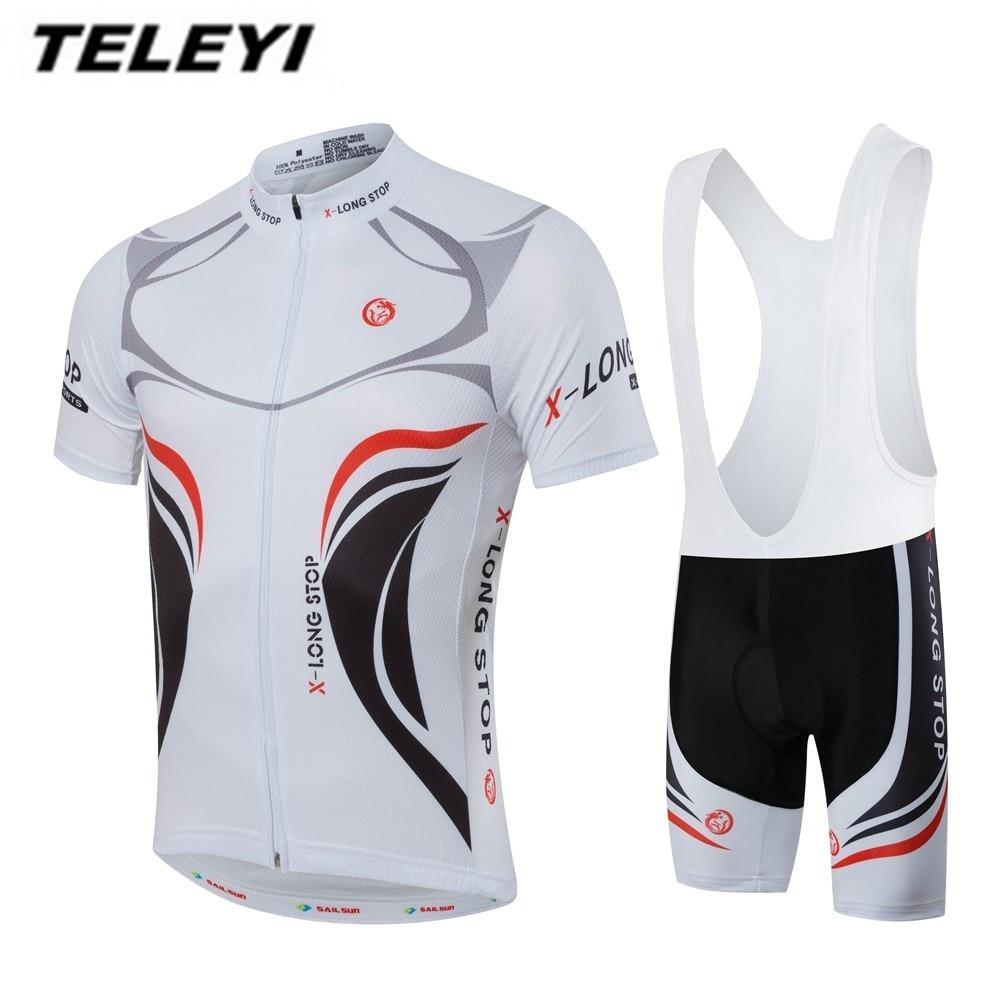 Для мужчин Велосипедная форма лето велосипед Джерси Биб шорты устанавливает PRO MTB Team Велосипеды комплекты одежды Ropa велосипед Топ велосипед...