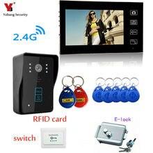 Yobang Security 7 inch 7″ Wireless Video Doorbell Intercom 1 to 1 Home Wireless Video DoorBell Dooor Bell Door Phone Intercom