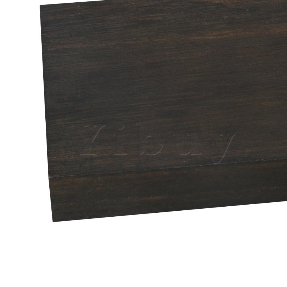 Yicomprar 21,5x4,7x1,6 cm Piano negro teclado madera Material instrumento de música hacer herramienta de accesorios DIY