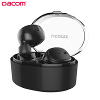 Dacom Bluetooth Earphone Mini Wireless Stereo Headset TWS Ture Wireless Earbuds Charging BOX For IPhone 7