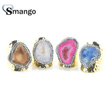 5Pieces,Women Fashion Jewelry,The Irregular Shape Colorful Rhinestone Rings,4 Colors