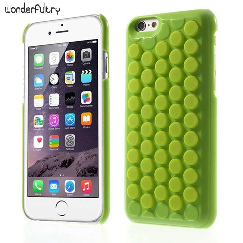 Wonderfultry Pour iPhone 6 7 8 Couverture Réduire Le Stress Nouveauté PoP Sound Bulle Wrap Shell pour iPhone 6 6 s 7 plus Intéressant Gadget