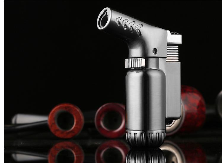 Компактный бутан Jet зажигалка Факел Зажигалка бензиновая огонь ветрозащитный Пистолеты-распылители металла легче без газа сигареты доступ...