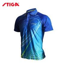 Горячая Stiga одежда для настольного тенниса для мужчин и женщин, футболка с коротким рукавом, футболка для пинг-понга, спортивные майки