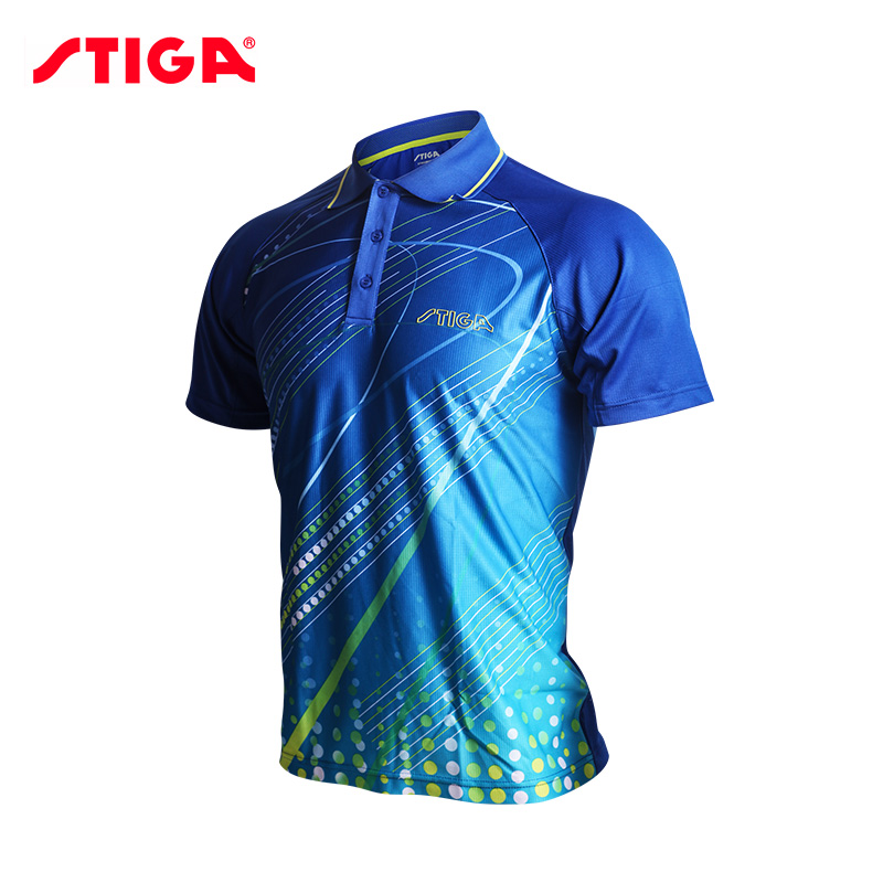US $31.08 10% OFF| : Buy HOT Stiga Table tennis clothes for men and women clothing T shirt short sleeved shirt ping pong Jersey Sport