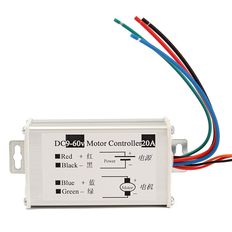 DC9-60V 10A SoftStart Reversible Motor Speed Control PWM Controller PWM