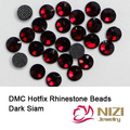 Dark Siam DMC Hotfix Rhinestones For Garment Accessories Flatback Glue Back Iron On Strass Stones DIY Wedding Clothes Supplies